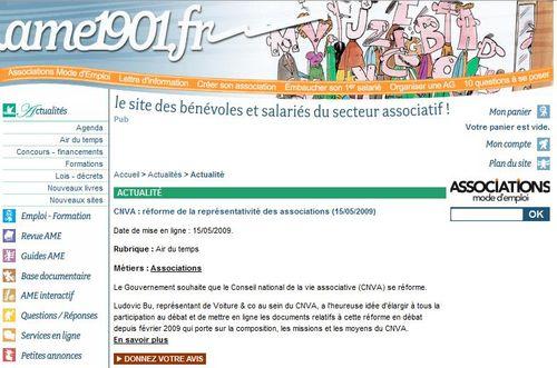 2009 05 15 - AME 1901 sur réforme CNVA