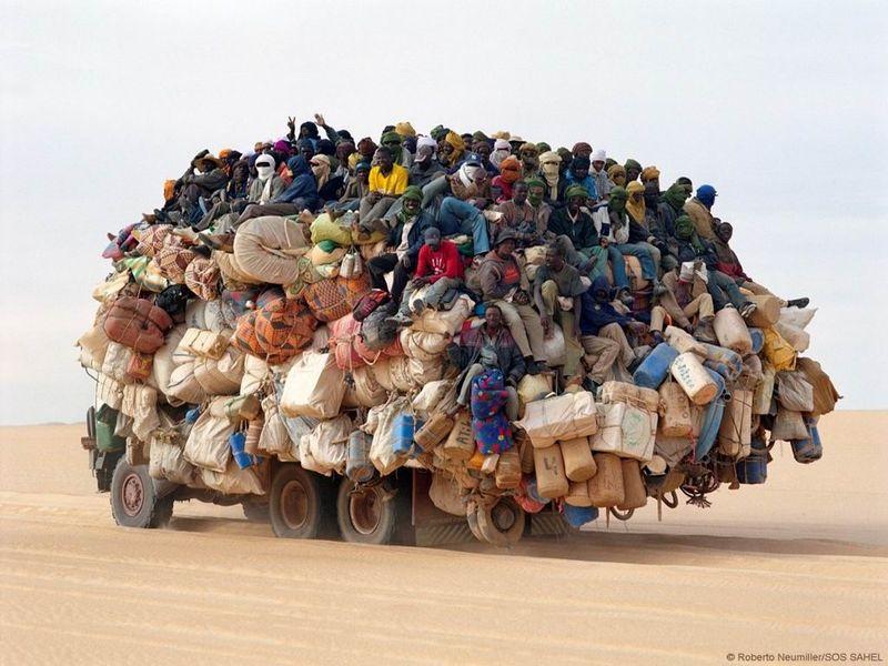 Camion trop chargé = danger
