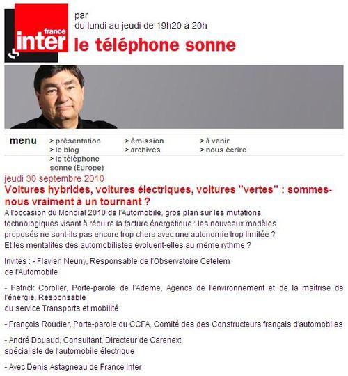 Le téléphone sonne - 30 09 10