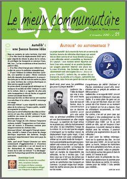 LMC - Le Mieux Communautaire n°21 - novembre 2010