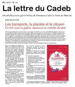 La lettre du Cadeb mai 2010