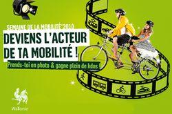 Affiche belge de la semaine de la mobilité