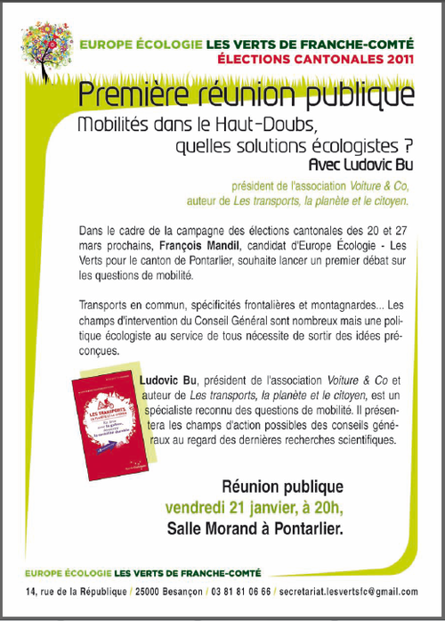 Pontarlier - tract meeting cantonales