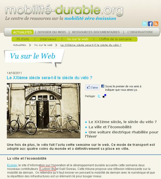 Mobilité durable org 14 10 11