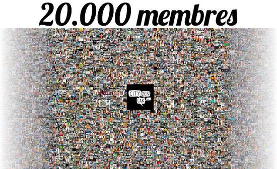 CityzenCar 20.000 membres