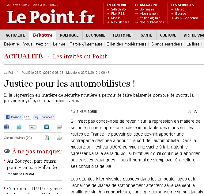 Le point.fr avec Souid