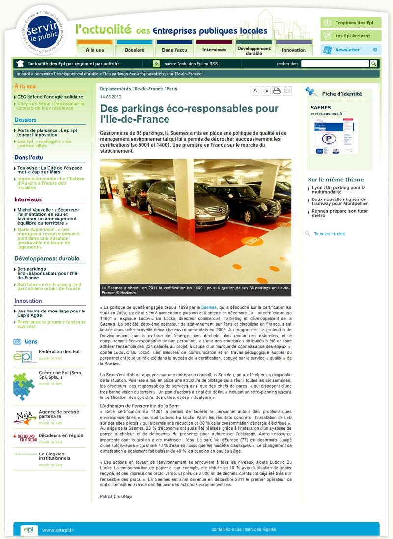Servir le Public.fr août 2012