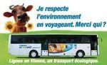 Je suis une vache dans le bus du Conseil général du Poitou