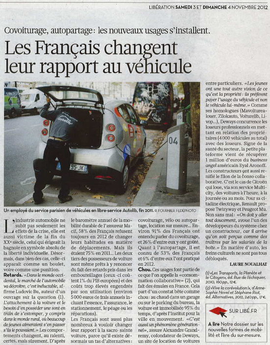 Libération du 03 11 2012 - Citation Ludovic Bu