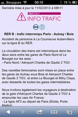 RER B - Navettes remplacant le RER B