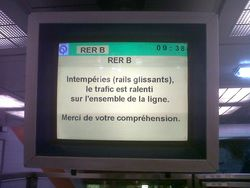 RER B -2013 02 14- Rails mouillés ou accident voyageur