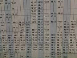 RER B - Grille d'horaires- illisible