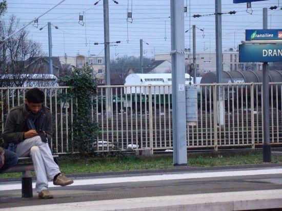 Train de déchets nucléaires à Drancy, 05 01 2013