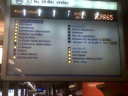 RER B -2013 02 12- Pas d'arrêt à Drancy et Blanc Mesnil