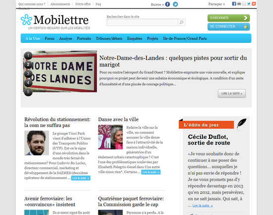 Mobilettre - février 2013 - A la Une