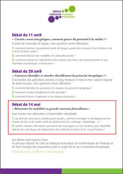 Débats transition énergétique Val d'Oise les questions