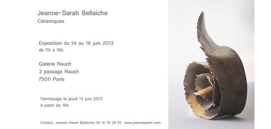 Jeanne Sarah - Galerie Rauch invitation
