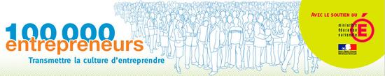 Bandeau 100 000 entrepreneurs