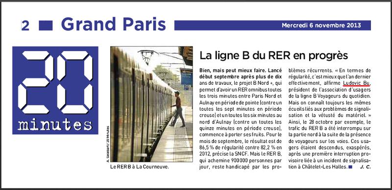 La ligne B du RER en progrès (20 minutes, 06 11 2013)