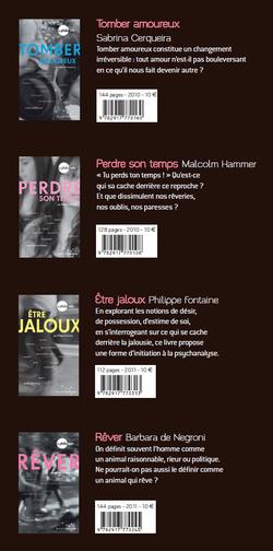 Quatre livres de la collection philo ado, éditions rue de l'échiquier