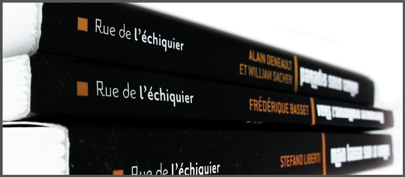 Editions Rue de l'échiquier, tranches de livres