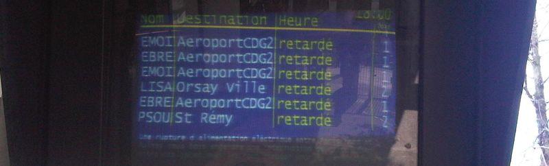 Bandeau - RER B - retards