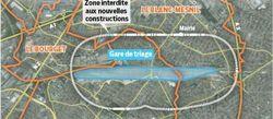 Gare de triage, la carte des zones non constructibles