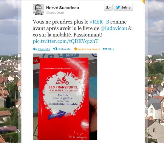 Hervé Suaudeau à propos de 'les transports, la planète et le citoyen'