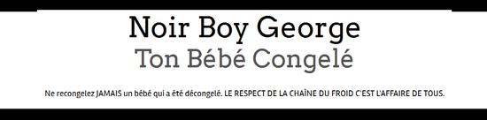 Bandeau Noir Boy George