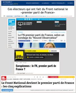 FN premier parti de France pour les médias, sans aucun recul
