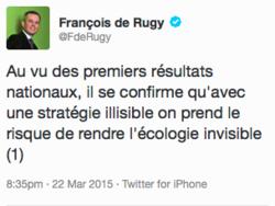Tweet de De Rugy départementales 2015
