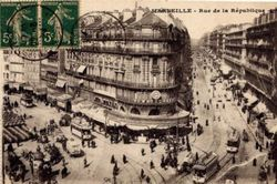 Marseille, 1920 - presque tout le monde va à pied