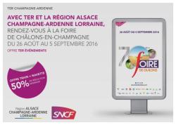Chalons - Offre SNCF pour se rendre à la foire