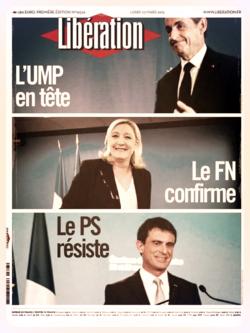 Libération voit l'UMP en tête. Avec 6,58% ?