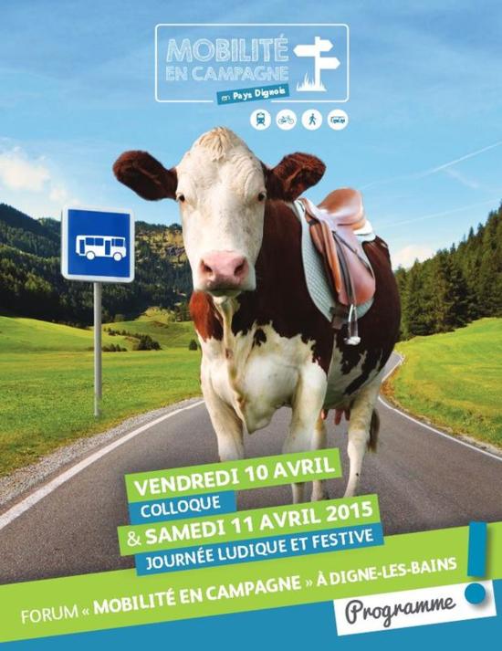 Affiche Mobilités en campagne, Pays Dignois