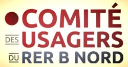 Logo Comité des Usagers du RER B Nord quadri